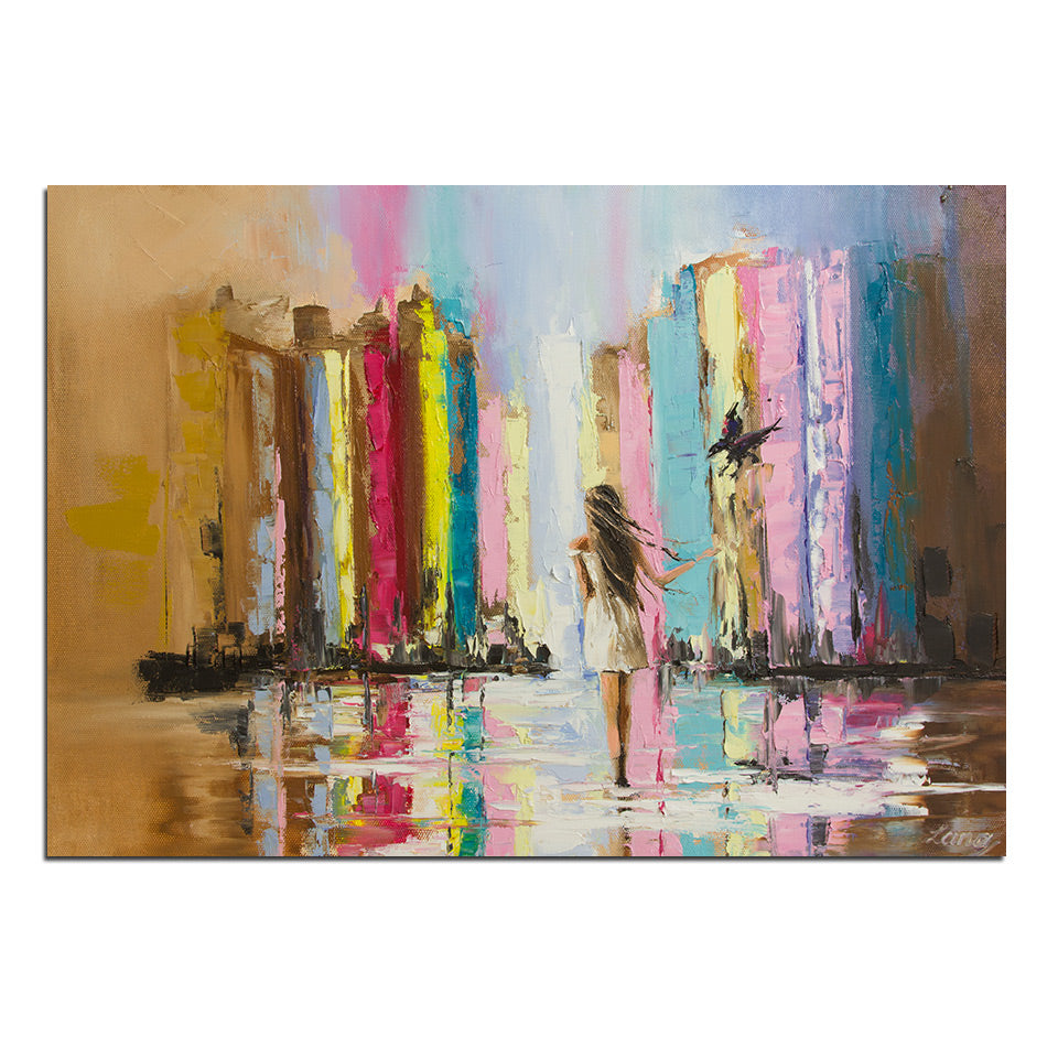 1 Panel Abstract Artistic Girl Oil Painting Canvas Poster Print Modern Wall Picture Living Room Decor