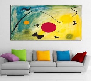 1 Piece Bright Colorful Abstract Canvas Prints Painting Wall Art Modular Picture Modern Decorative Paintings