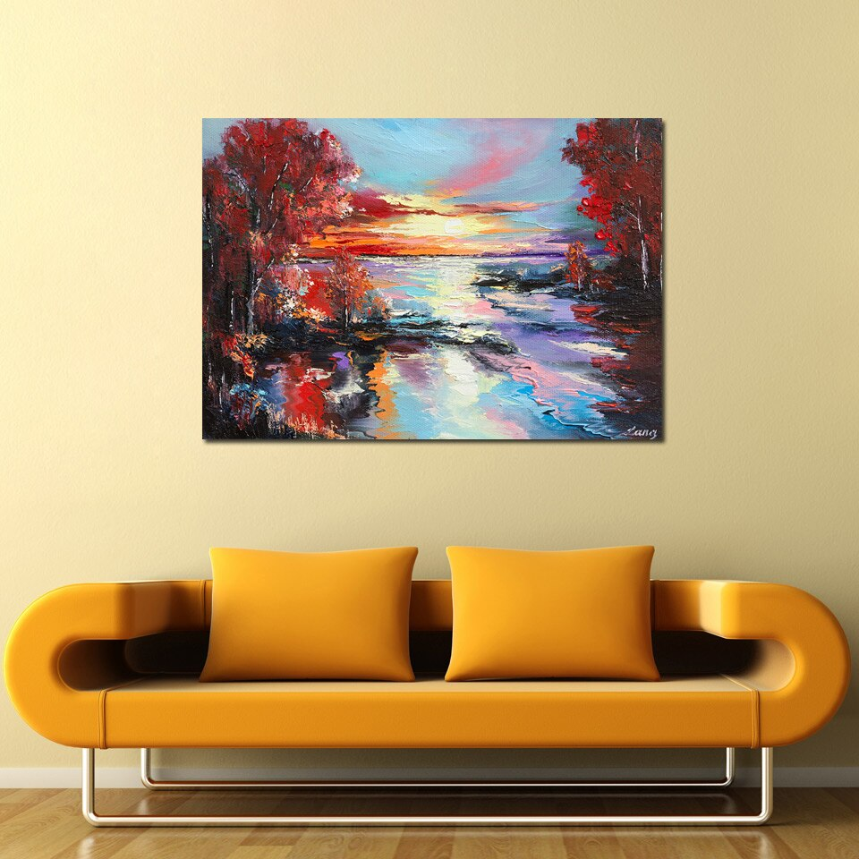 HD 1 Panel Abstract Artistic Scenery Oil Painting Canvas Poster Print Modern Wall Picture Living Room Decor