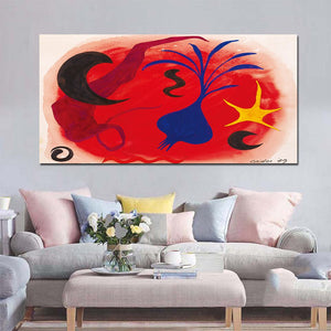 1 Panel Bright Color Abstract Painting Canvas Wall Art Picture Home Decoration Living Room Print Painting
