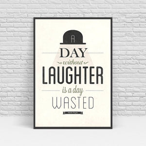 Poster Nordic Canvas Art A Day Without Laughter Is A Day Wasted Painting Picture Living Room Decorative