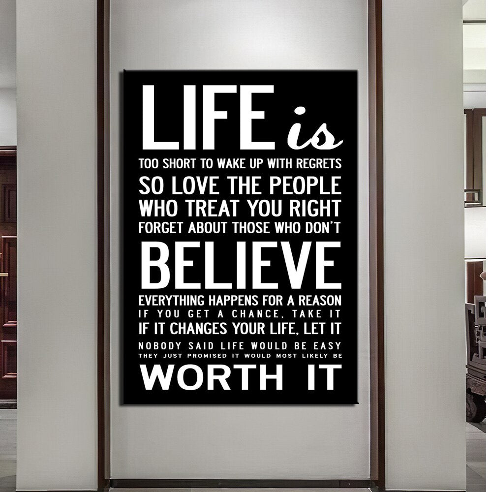 Wall Art HD Print 1 Piece Canvas Art Quotes Home Decoration Painting