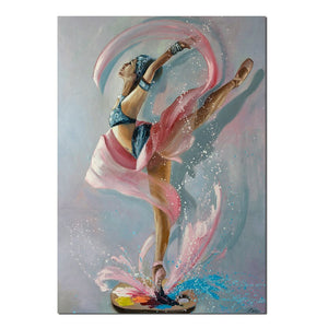 Modular Pictures1 Panel Colorful Watercolor Dancing Girl Canvas Painting Wall Art Picture Home Decoration Pictures