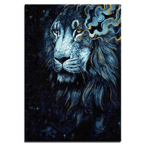 HD Printed 1 Panel Canvas Painting The Darkness Lion Scandy Girl Wall Pictures Living Room Posters