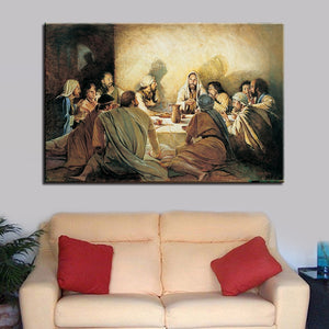 HD Printed Home Decor Canvas Poster 1 Panel Jesus Abstract Painting Wall Art Last Supper Pictures