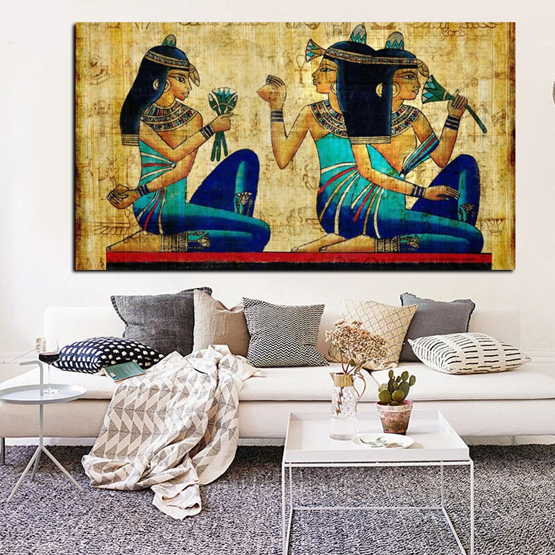 Vintage Modular Picture Wall Artwork 1 Panel Ancient Egypt Abstract Canvas Art Prints Poster Painting