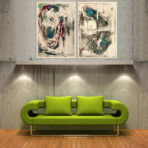 2 Panel Decorative Painting Modern Living Room Wall Poster Abstract Home Painting