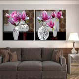 Modular 2 Panel Canvas Painting Still Life Flower Picture Wall Picture Art Canvas Posters Wall Art Painting Artwork