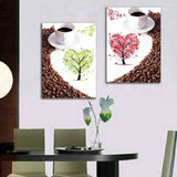 2 Panels Canvas Paintings Living Dining Room Wall Decoration Coffee Decorative Wall Art Pictures Printing Poster