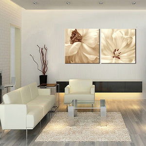 2 Panel Canvas Painting On Print Flowers Painting The Wall Bedroom Painting The Sofa Backdrop Posters