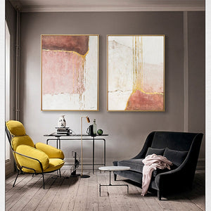 Modern Group Painting Decorative 2 Panels Canvas Wall Art Hangings Oil Painting Handmade Wall Paintings