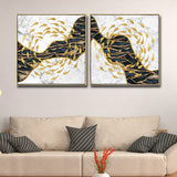 Group Abstract Painting Modern Decor 2 Panels Canvas Wall Art Shipping Canvas Wall Art Oil Painting