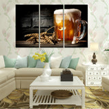 Canvas Poster Painting 3 Panel Canvas Wall Art Oil Painting Picture Vintage Map Poster Nostalgic Pictures