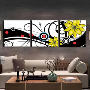 Modular Picture Canvas Wall Art Modern For Living Room Decor 3 Panel Still Life Flower Painting HD Print