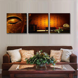Poster Painting Home  Modular Abstract Photo 3 Panel Modern Buddha Wall Art Home Decoration Picture Print