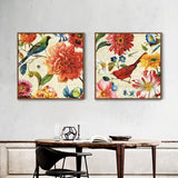 2 Panels Vintage Poster Modular Flowers Canvas Painting Modern Home Living Room Wall Art Poster Prints