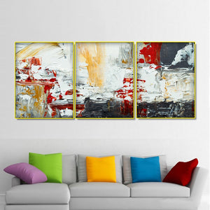 3 Panel Canvas Calligraphy Abstract Painting Watercolor Wall Art Graffiti Pictures Posters Prints Home Decor