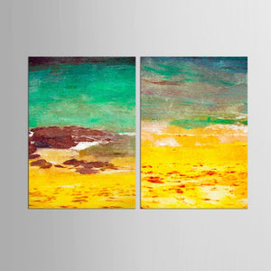2 Panel Canvas Painting Abstract  Landscape Decorative Modern Paintings Living Room Bedroom Wall Art