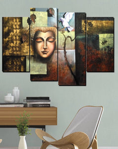 4 Piece Buddha Modern Wall Pictures Bedroom Print Canvas Painting Living Room Decoration Decor
