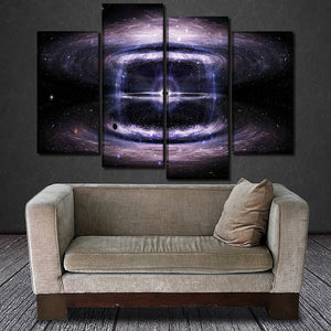 Canvas HD Prints Posters Wall Art 4 Piece Black Hole Space Stars Paintings Home Decorative Pictures