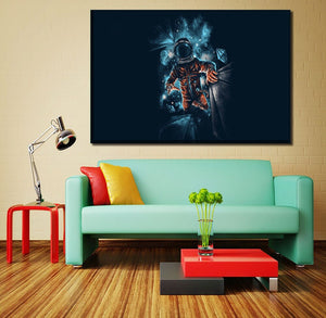 Canvas HD Prints Painting Home Decor Poster 4 Piece Space Man Artistic Galaxy Pictures Bedroom Wall Artwork