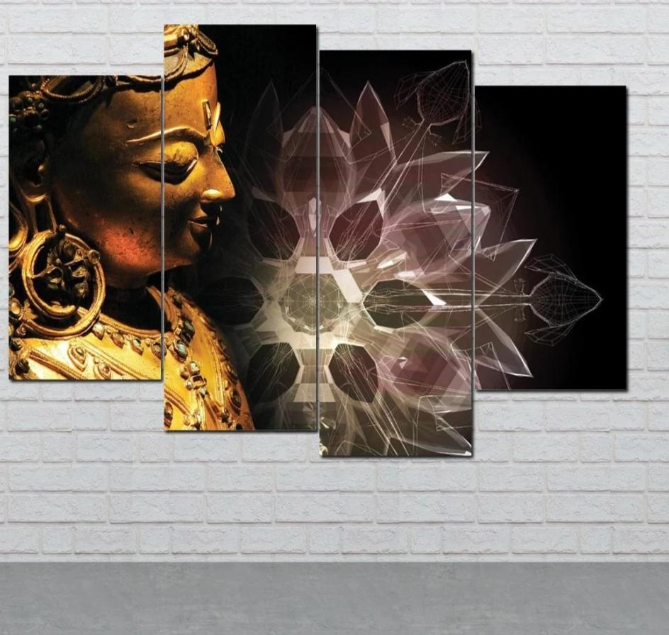 Lotus Buddha Wall Art HD Prints Canvas Art Painting Modular Picture And Poster Canvas Painting Decoration