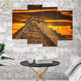 Wall Art HD Prints Canvas Art Painting Modular Picture And Poster Egyptian Pyramids Painting Decoration
