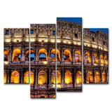 4 Piece Painting Roma Coliseum Building Wall Decorations Wall Art Picture Canvas Painting Home Decor