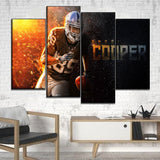 Canvas HD Print Home Decorative Sport Painting 4 Pieces Wall Art Rugby Player Modular Pictures Modern Artwork