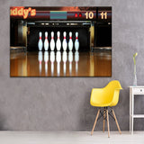 Skittles Bowling Reflection Sport Painting 4 Piece Style Picture Modern Canvas Print Type Wall Artwork Poster