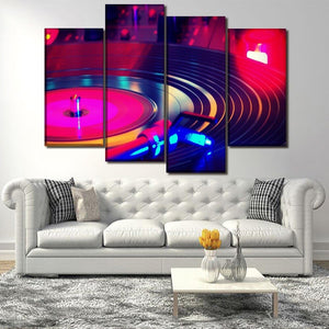 Canvas Paintings Living Room Home Decor HD Prints 4 Piece Instrument Player Music Pictures Wall Art Poster