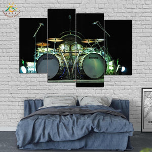 Abstract art Music Drums Wall Art HD Prints Canvas Art Painting Modular Picture Poster Canvas Painting 4 Pieces