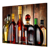 4 Piece Canvas Painting Wine Bottle Drink Wall Decorations Wall-To-Wall Pictures Decorative
