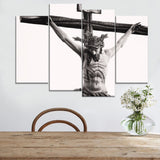 Christian Jesus Cross Painting 4 Piece Religious Picture Canvas Print Type Wall Artwork