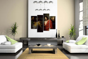 4 Panels Wall Art Pictures Christian Picture Canvas Print Modern Religion Posters For Living Room