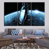 Top-Rated Canvas Print 3 Piece Space Milky Way Painting Modern Artwork Home Decorative Living Room Wall