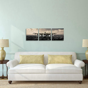Vintage Airplane Print 3 Pieces Modern Home Decorations Wall Art Canvas Painting Living Room Decor Custom
