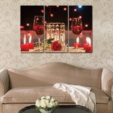Canvas Paintings Wall Art Pictures 3 Piece Modern Red Wine Cup Bar Dinning Room Kitchen Decor Pictures