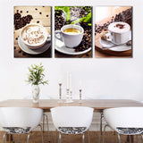 Living Room HD Printed Modern Painting 3 Pieces Coffee Bean Modular Decoration Poster Picture On Canvas Wall Art