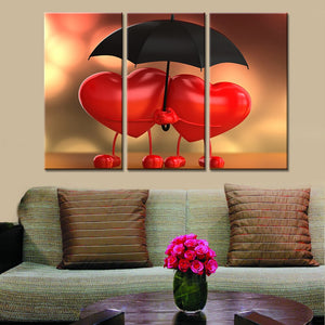 Love Umbrella HD 3 Pieces/sets Canvas Art Canvas Paintings 3 Panels Decorations Home Wall Art Prints