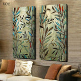 2 Piece Canvas Art Print Picture Tree Leaf Leaves Poster Painting Modern Wall Pictures For Living Room
