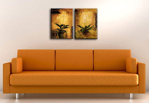 Modern 2 Pieces Canvas Wall Arts Modern Home Decoration Wall Hanging Friends