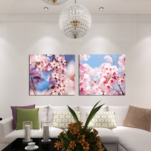 Gift Beautiful Flower 2 Pieces Canvas Prints Wall Art Picture Oil Painting Living Room Home