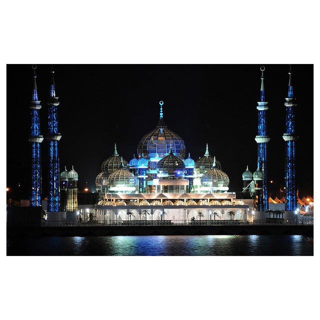 Religious Architecture Diamond Diy Paintings Full Round Drill 5D Cross Stitch Wall Art Embroidery Pictures