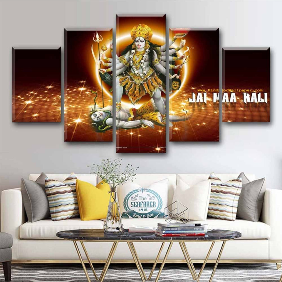 5 Piece Wall Painting Hindu God Art Poster Canvas Picture Indain God Printed Living Room Home Decor Decoration