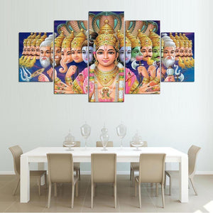 Canvas HD Prints Poster Modular Wall Art Picture 5 Pieces The Hindu God Vishnu Painting Living Room