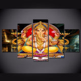 5 Piece Home Decor Buda Painting Hindu God Posters Canvas Picture Printed Cuadros Decorative Wall Art