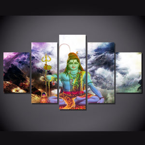 5 Piece Canvas Wall Art Poster Marvel Pictures Hindu Gods Painting Buda Posters And Print Wall Decor Art