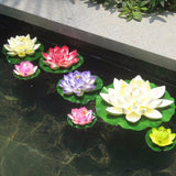 7pcs/Lot Artificial Plastic Flowers Fake Bouquet Lotus Garden Pond Flores