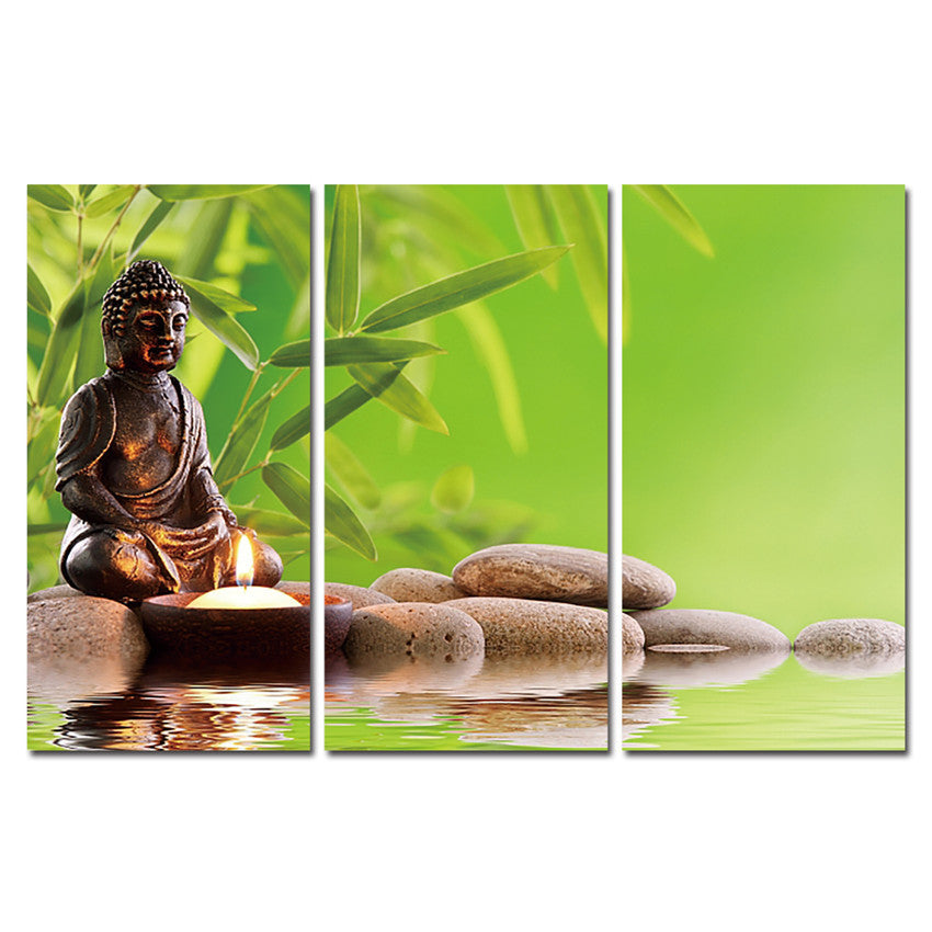 Decoracion Buddha Canvas Printings Wall Pictures Living Room Meditation  Paintings 3 Panels Posters